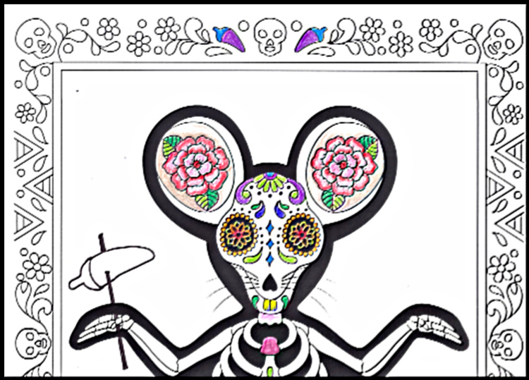 Rat or Mouse coloring page sample